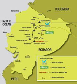 Andes and Amazon Itinerary